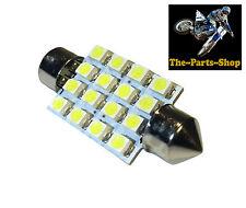 WHITE 41-42MM FESTOON 16 LED CAR INTERIOR NUMBER PLATE MAP CABIN BOOT LIGHT BULB