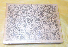 Stampin up victorian lace background paisley floral large stamp big wood mounted