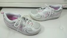 Womens white pink Skechers slip on shape-ups shoes size UK 7 trainers sketchers