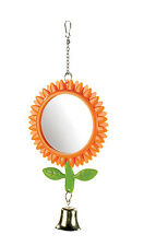 Sunflower Budgie Mirror Double Sided with Bell 13cm Bird Cage Toy