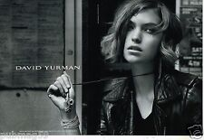 Publicité Advertising 2011 (2 pages) Les Bijoux David Yurman