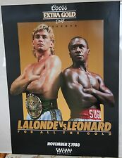 Boxing Poster: Sugar Ray Leonard v Donny Lalonde 1988 Coors Beer Free Shipping!