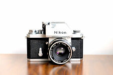 NIKON F  35mm SLR film camera  w/ Photomic Viewfinder & 50mm Lens  * Good User *
