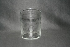 ancienne timbale verre de communion cristal fleurs monogramme C XIX ème