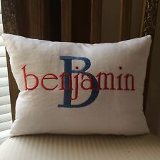 Childrens Room, Baby Nursery, Personalized Pillow