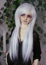 "BJD Doll Hair Wig 6-7"" 1/6 SD DZ DOD LUTS White Long Straight"