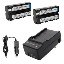 2pcs NP-F550 2100mAh Li-ion Battery + Charger for Sony NP-F570 F750 F950 set