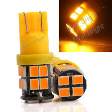 10Pcs Amber 12V T10 192 921 194 168 W5W 2835 20SMD LED Reading Indicator light
