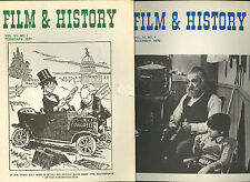 FILM & HISTORY * two issues of journal 1976 1977 * immigration Will Rogers * lot