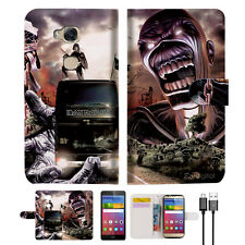 Iron Maiden Wallet Case Cover For Huawei Ascend GR5-- A014