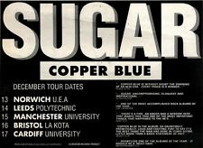 "12/12/92PGN17 ADVERT 7X10"" SUGAR : COPPER BLUE (TOUR DATES)"