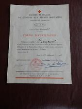 RED CROSS 1936  PRE WW2 FRENCH DOCUMENT WHAT HAPPENED TO THIS PERSON IN 1940 ?