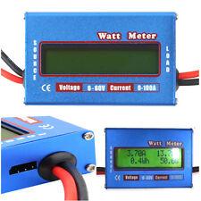 RC Boat Heli Watt Meter Battery Power Analyzer Digital LCD Display DC 60V 100A