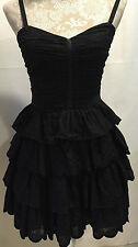 Betsey Johnson Black Layered Short Prom Cocktail Party Evening Dress Size 4