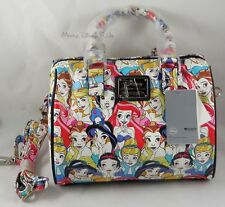 New Loungefly Disney Princess Pebble Crossbody Duffle Barrell Hand Bag Purse