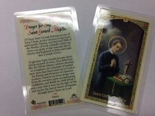 HOLY PRAYER CARDS FOR ST. GERARD MAJELLA SET OF 2 IN ENGLISH FOR SAFE DELIVERY