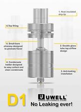 SS Uwell D1 Sub-Ohm Tank Anti-Leaking Design Top Airflow AUTHENTIC Free Shipping
