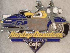 Harley-Davidson Cafe NEW YORK 1990s Blue &  Yellow Motorcycle PIN Bike HDC Logo