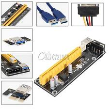 USB3.0 PCI-E PCI Express 1x to 16x Extender Riser Card Adapter Powered Cable