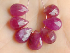 Natural Pink Sapphire Faceted Pear Briolette Gemstone Beads 013