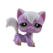 Rare Hasbro Littlest Pet Shop LPS Shine Cat Kitty Purple Gift Toy Animals
