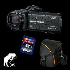 JVC GZ-RX615BEU Everio R, wasserdichter Full HD Camcorder + 64 GB + Action Black