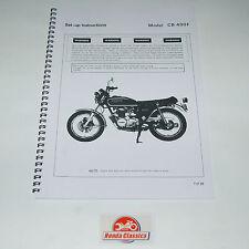 Honda Set Up Manuale Libro CB400F 400/4 400 Quattro 1970s, Riproduzione HWM007