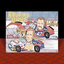 New TALLADEGA NIGHTS MOVIE ART poster nascar RICKY BOBBY in #26 wonder bread car