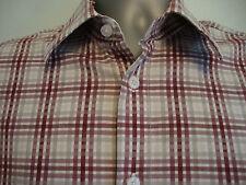 mens YSL yves St Laurent Short sleeve check designer shirt size large