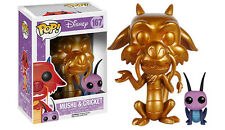 "DISNEY MULAN METALLIC GOLD MUSHU & CRICKET 3.75"" POP VINYL FIGURE FUNKO 167"