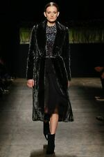 J Mendel NWOT Luxe Mahogany Brown Sheared MINK FUR Belted Coat Jacket 6-8-10US