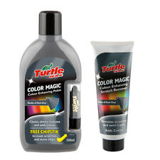 Turtle Wax Colour Magic Car Polish Wax Restorer + Scratch Remover Set - GREY
