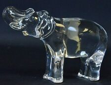 """BACCARAT Crystal 4.25"""" Elephant trunk up Sculpture100% Authentic Figurine Signed"""