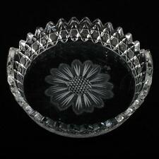 American Brilliant Cut Glass Butter Tub Antique Crystal Cornflower and Stars