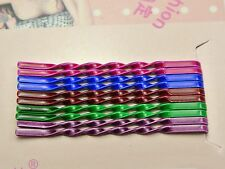 50 Mixed Color Metal Twisted Wavy Bobby Hair Pin Clips 55mm DIY Hairstyle