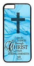 Christian Bible Verse Cross Case iPhone6 6+ 5S 5C 5 4S TPU Rubber or Hard Cover