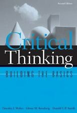Critical Thinking: Building the Basics (Study SkillsCritical Thinking)-ExLibrary
