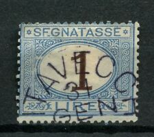 Italy 1870 SG#D32, 1L Brown & Pale Blue Used #A54445