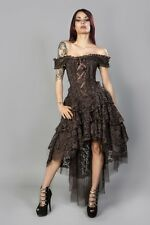 New Vintage Gothic Victorian Steampunk  Lace Corset Wedding Evening  Dress 12-14
