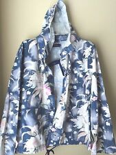 Polo Ralph lauren Bleached Floral Print Chino Anorak Hoodie Jacket XL