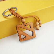 DOTA 2 Logo Style wood key chain Pendant Key Chain Keyring Key Ring