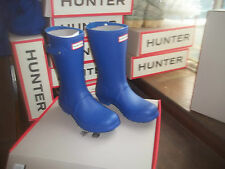 HUNTER WELLIES WELLINGTONS  IN HALIFAX SIZE 6  BRIGHT COBALT BLUE  SHORT LADIES