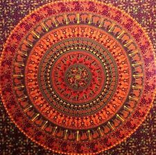 Indian Hippie Mandala Tapestry, Camel Elephant Wall Hanging Bed Sheet Spread