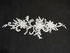 3D Floral layers ivory lace Applique / shoes floral lace motif Sold by per piece