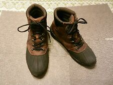 Propet - Men's Sz 14 - Brown Leather/Black Rubber Rugged Shock Absorber Boots