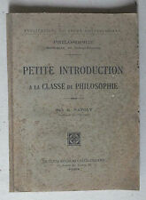 PETITE INTRODUCTION A LA CLASSE DE PHILOSOPHIE - NAPOLY - CHATEAUBRIAND - 1928 *