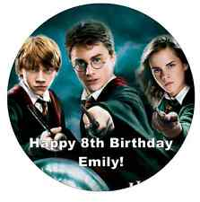 """Harry Potter Personalised Cake Topper 7.5"""" Edible Wafer Paper"""