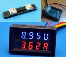 DC 100V 50A Voltmeter Ammeter LED Dual Digital Volt Amp Meter Gauge with shunt