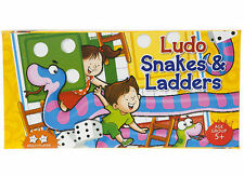 LUDO & SNAKES AND LADDERS SQUARE BOARD GAME BOARD SIZE 25 CM TRAVEL IN BOX