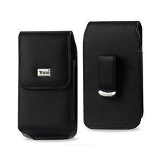Reiko Black Vertical Leather Pouch w/ Belt Clip For Apple IPhone 6 PLUS 5.5 inc